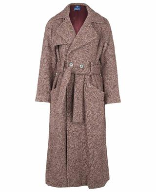 Cerere double-breasted coat in chevron tweed FEDELI