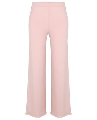 Cefeo Ontaria fringed wide-leg knit trousers FEDELI