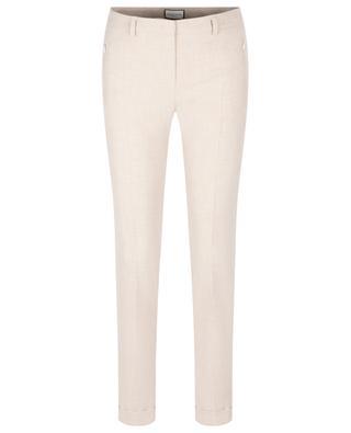 Pantalon slim en viscose et coton mélangés Leni SEDUCTIVE