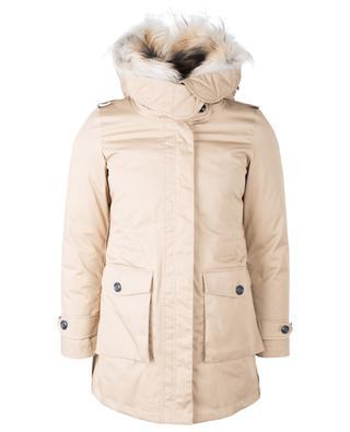 W's Scarlett hooded fur trimmed 3-in-1 parka WOOLRICH
