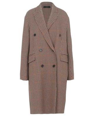 Manteau en laine et cachemire motifs pied-de-poule Carles JOSEPH