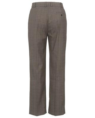 Pantalon droit prince-de-galles en laine vierge Sloe JOSEPH