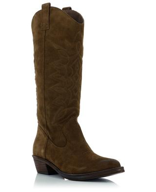 Incas embroidered suede boots ASH