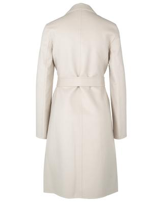Belted open wool and cashmere coat THEORY