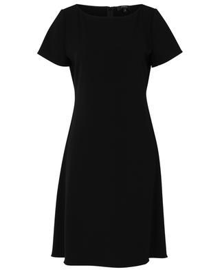 Kurzes tailliertes Kleid aus Crêpe THEORY