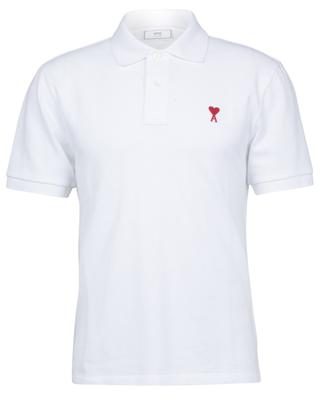 Ami de Coeur embroidered cotton piqué polo shirt AMI