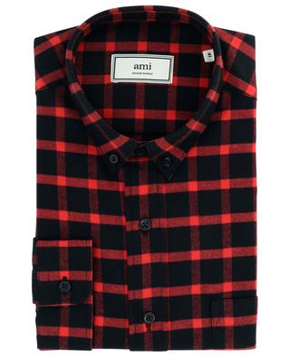 AMI Fit checked flannel shirt AMI