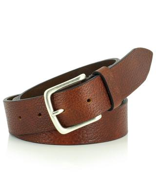 Bufalo grained leather buffalo leather belt ANDREA D'AMICO