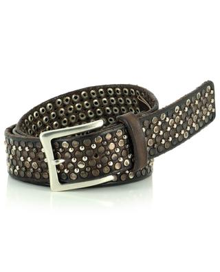 Tinto Lavato studded belt in vintage leather ANDREA D'AMICO