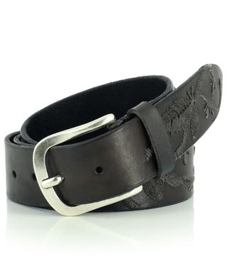 Embroidered leather belt ANDREA D'AMICO