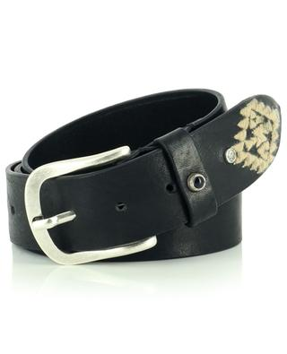 Vintage leather belt with ethnic embroideries ANDREA D'AMICO