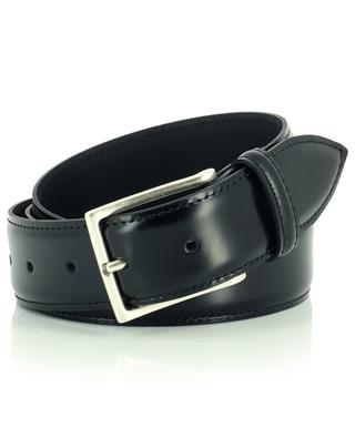 New Castle shiny leather belt with topstitching ANDREA D'AMICO