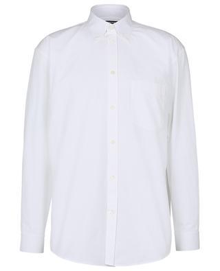 Oversize-Hemd aus schwerer Popeline mit Logoprint BALENCIAGA