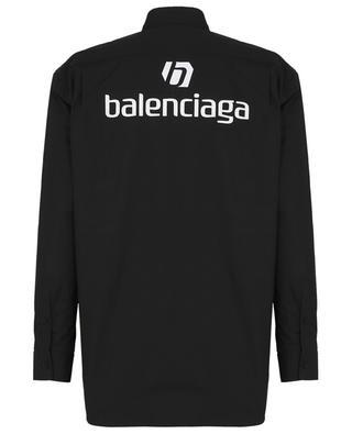 Chemise en popelone oversize avec imprimé logo BALENCIAGA
