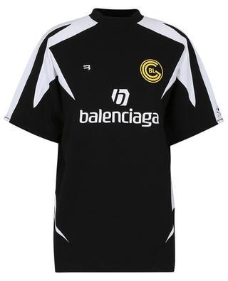 Oversize-T-Shirt aus Jersey im Trikot-Look Soccer BALENCIAGA