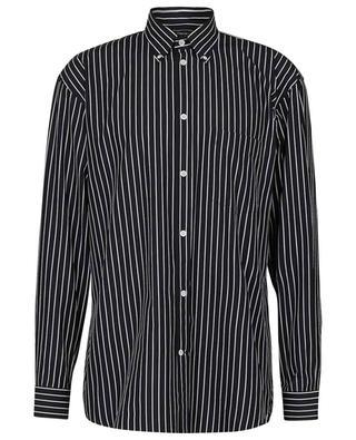 Striped Large Fit shirt with logo print BALENCIAGA