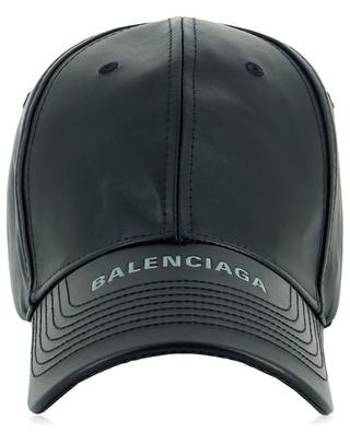 Baseballkappe aus Leder mit Logo BALENCIAGA