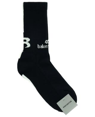 Abstract B cotton-blend logo print socks BALENCIAGA