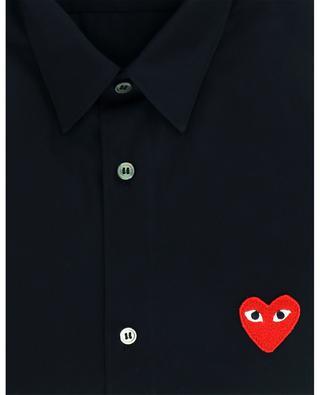 Klassisches Hemd mit Herz-Patch COMME DES GARCONS PLAY