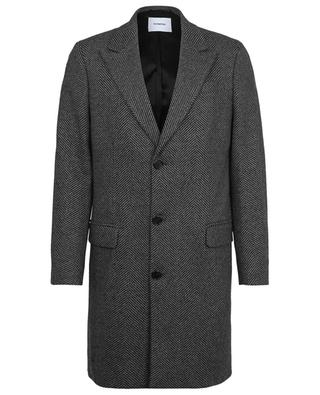 Manteau à chevrons en laine mélangée DONDUP