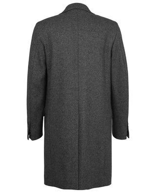 Mantel aus Wollmix mit Fischgrätenmuster DONDUP