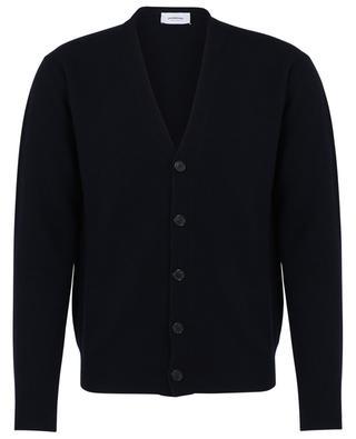 Cardigan slim boutonné à col V en laine et cachemire DONDUP