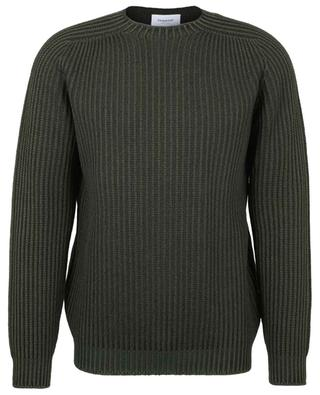 Ribbed wool round neck jumper DONDUP