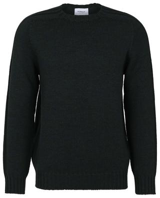 Crewneck jumper in combed wool with rib trims DONDUP