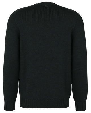 Pull à col rond en laine peignée détails côtes DONDUP