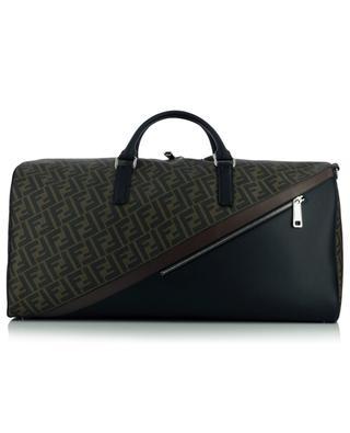 Leather and textile blend weekender bag FENDI