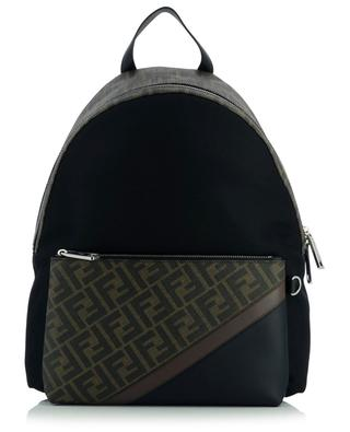 Double F nylon and coated canvas backpack FENDI