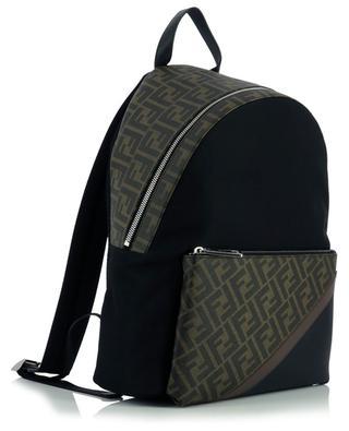 Double F nylon and coated canvas backpack FENDI