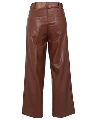 Cleo faux leather cropped wide-leg trousers CAMBIO