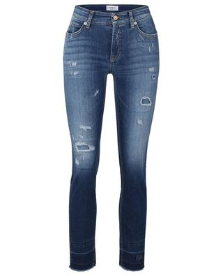 Paris ripped crystal embellished jeans CAMBIO