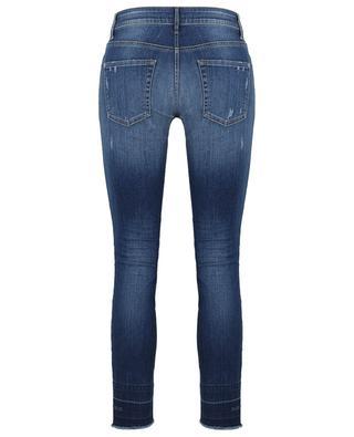 Zerrissene Slim-Fit-Jeans mit Kristallen Paris CAMBIO