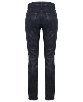 Paris camouflage printed coated skinny fit jeans CAMBIO