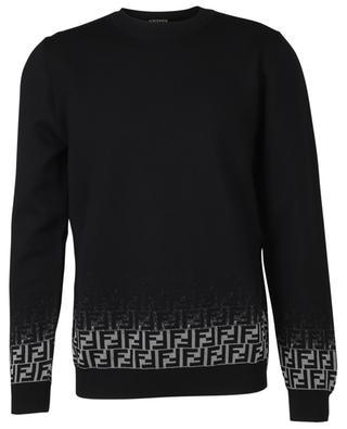 Pullover aus Wollmix mit Farbverlauf-FF-Monogramm FENDI