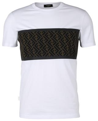 FF logo cotton and mesh T-shirt FENDI