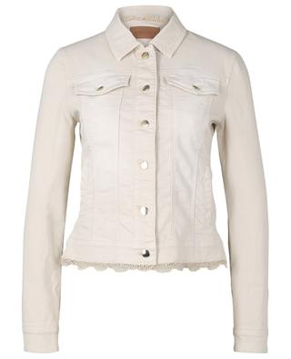 Cotton openwork denim jacket MARC CAIN