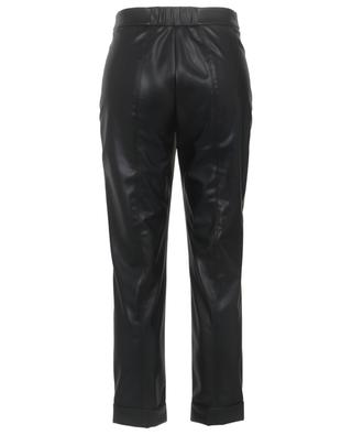 Leather-style pleated trousers with turn-ups MARC CAIN