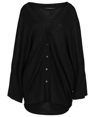 Leichter Oversize-Cardigan mit V-Ausschnitt und Fledermausärmeln TWINSET