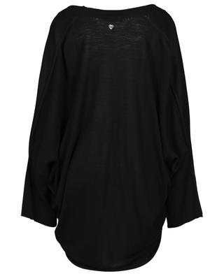 Lightweight batwing sleeve oversize V-neck cardigan TWINSET