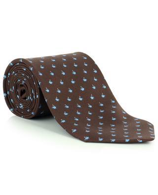 Cravate en soie imprimé tasses à café FEFE NAPOLI