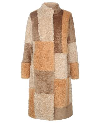Patchwork effect faux fur coat MARC CAIN