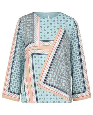 Wide long-sleeve blouse with foulard print MARC CAIN