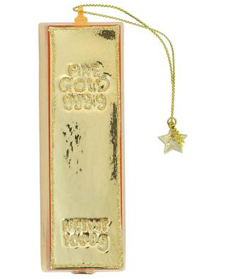Gold Bar glass Christmas bauble VONDELS