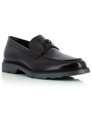Shiny smooth leather loafers HOGAN
