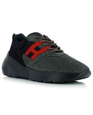 Active One nubuck leather and neoprene lace-up sneakers HOGAN