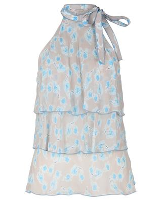 X-Ray Leaves sleeveless leave printed crepe top DOROTHEE SCHUMACHER