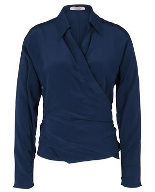 Fluid Volumes silk wrap blouse DOROTHEE SCHUMACHER